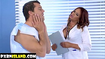 patient 2 therapist out her helps Guy tied up cum twice